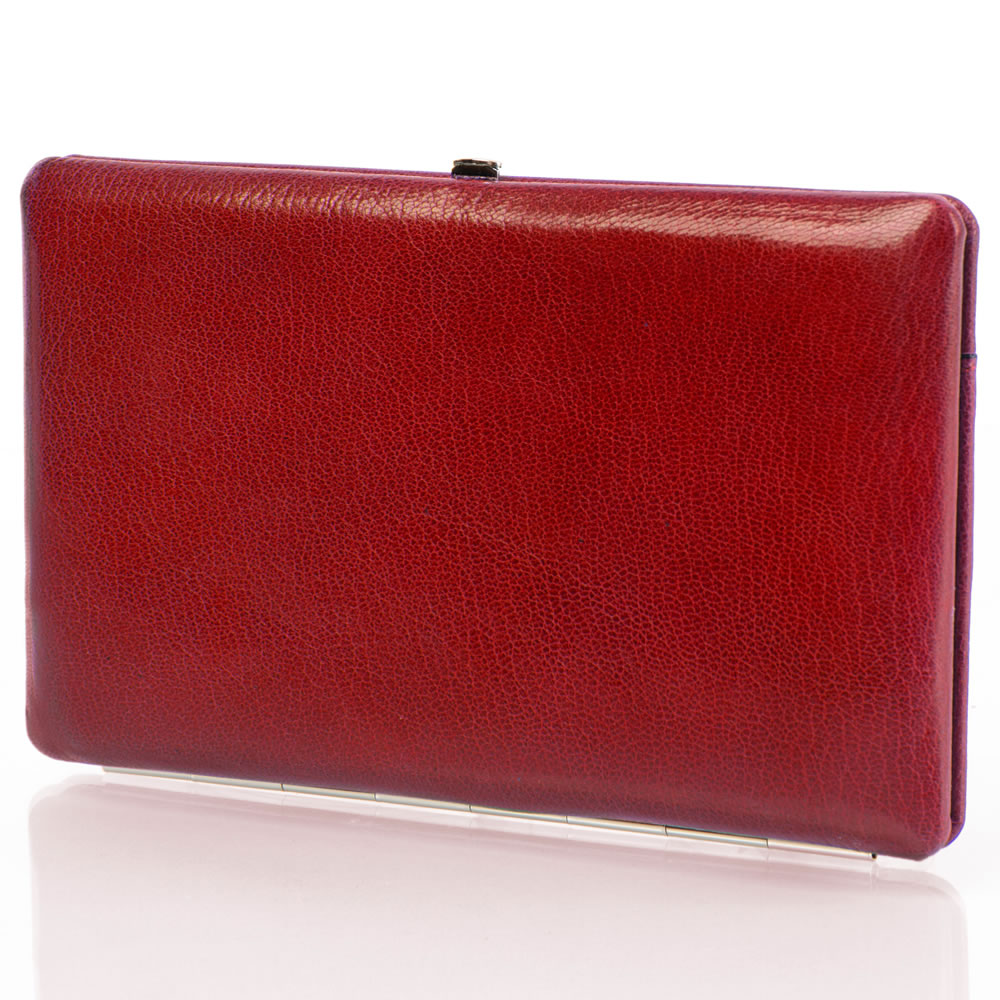 The Lady's Italian Leather Frame Wallet (Aniline Dyed Cowhide) 4