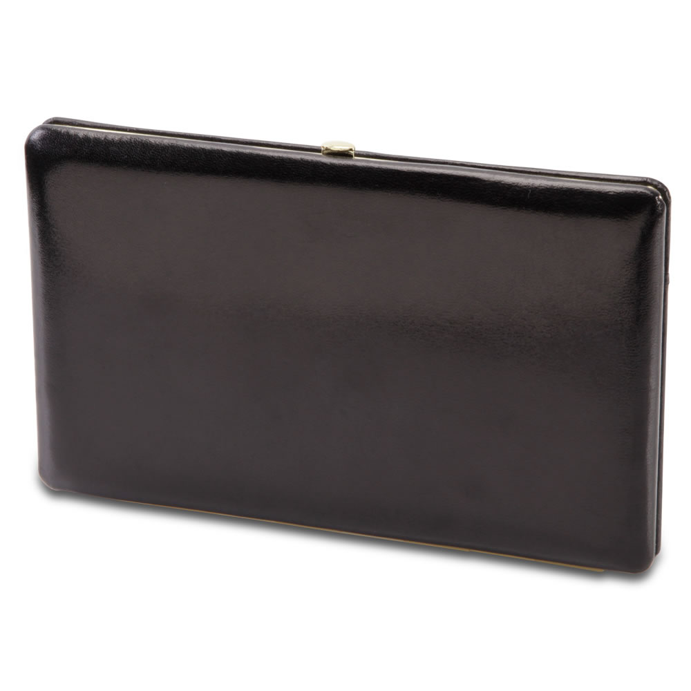 The Lady's Italian Leather Frame Wallet (Aniline Dyed Cowhide) 1