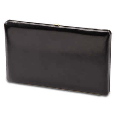 The Lady's Italian Leather Frame Wallet (Aniline Dyed Cowhide).