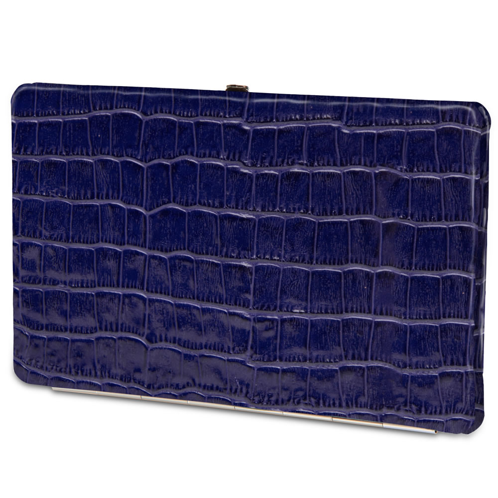 The Lady's Italian Leather Frame Wallet (Crocodile Skin Pattern) 4