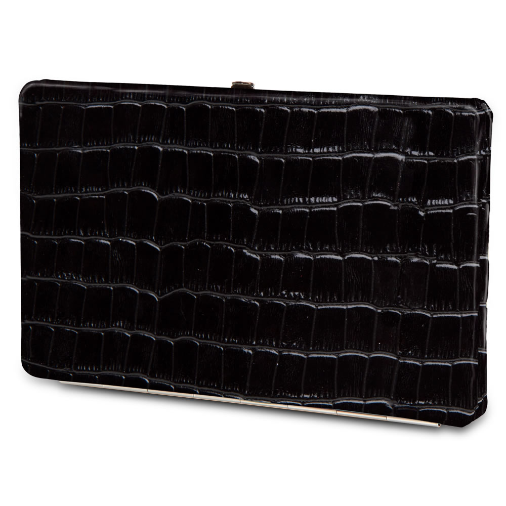 The Lady's Italian Leather Frame Wallet (Crocodile Skin Pattern) 5