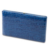 The Ladys Italian Leather Frame Wallet. (Crocodile Skin Pattern)
