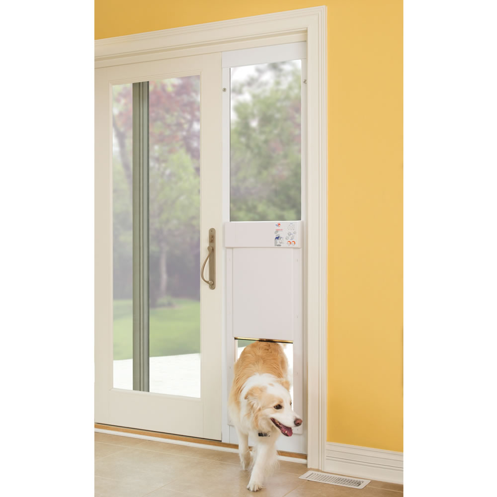 The Automatic Electronic Pet Door Hammacher Schlemmer