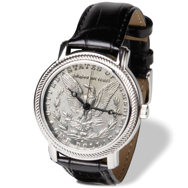 The Genuine Morgan Silver Dollar Watch.