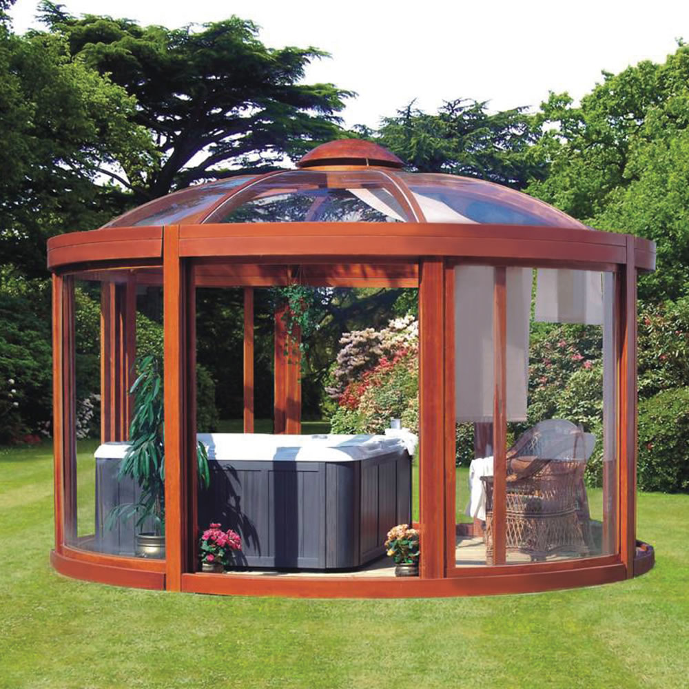 Backyard Gazebo Designs : The Scandinavian Backyard Gazebo  Hammacher Schlemmer
