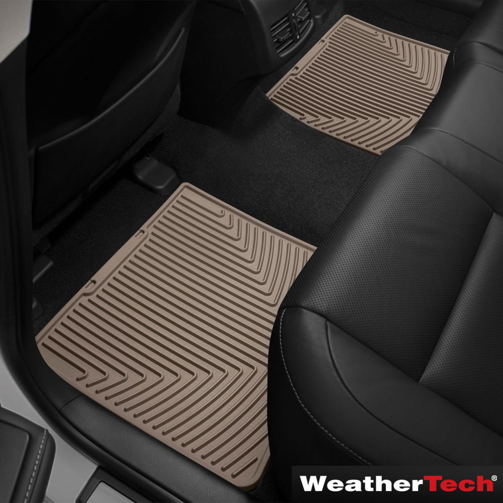 the weathertech laser fit auto floor mats (front and back