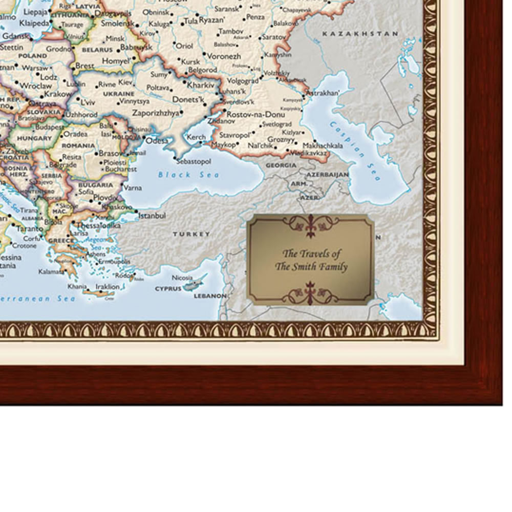 The Personalized European Travels Map 2