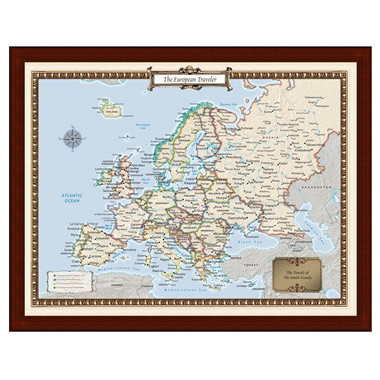 The Personalized European Travels Map