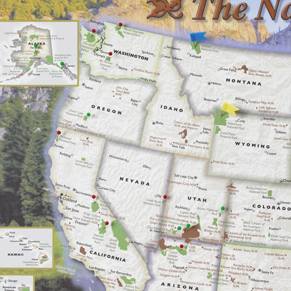 The Personalized U S  National Parks Map3