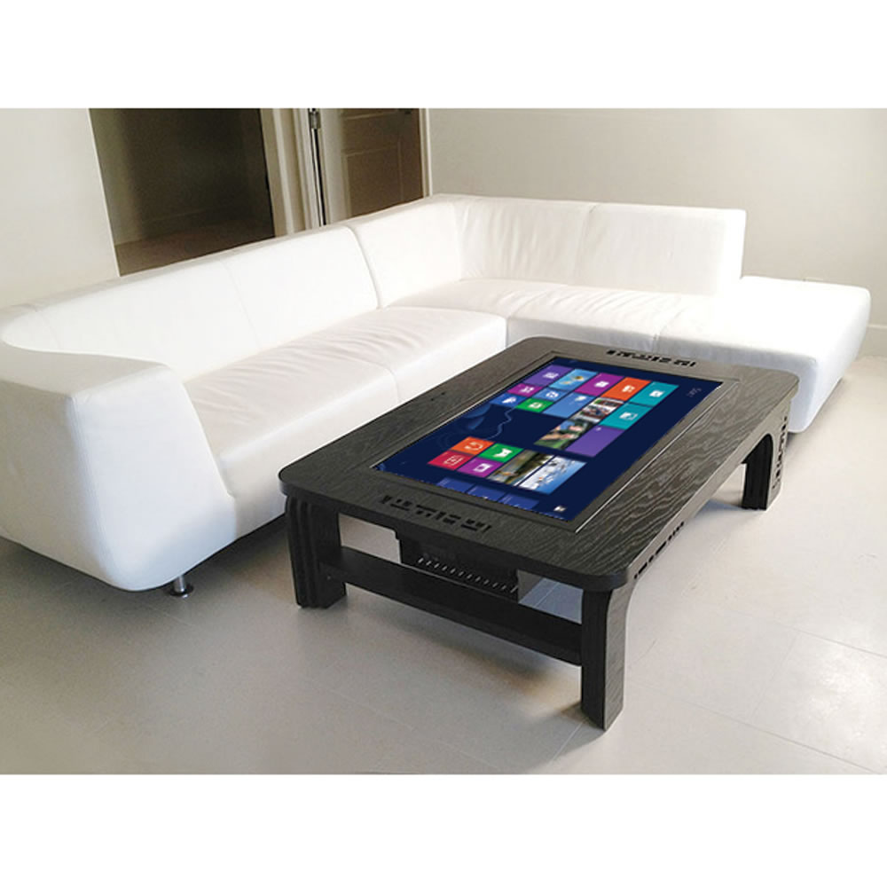Computer Coffee Table The Giant Coffee Table Touchscreen Computer Hammacher Schlemmer