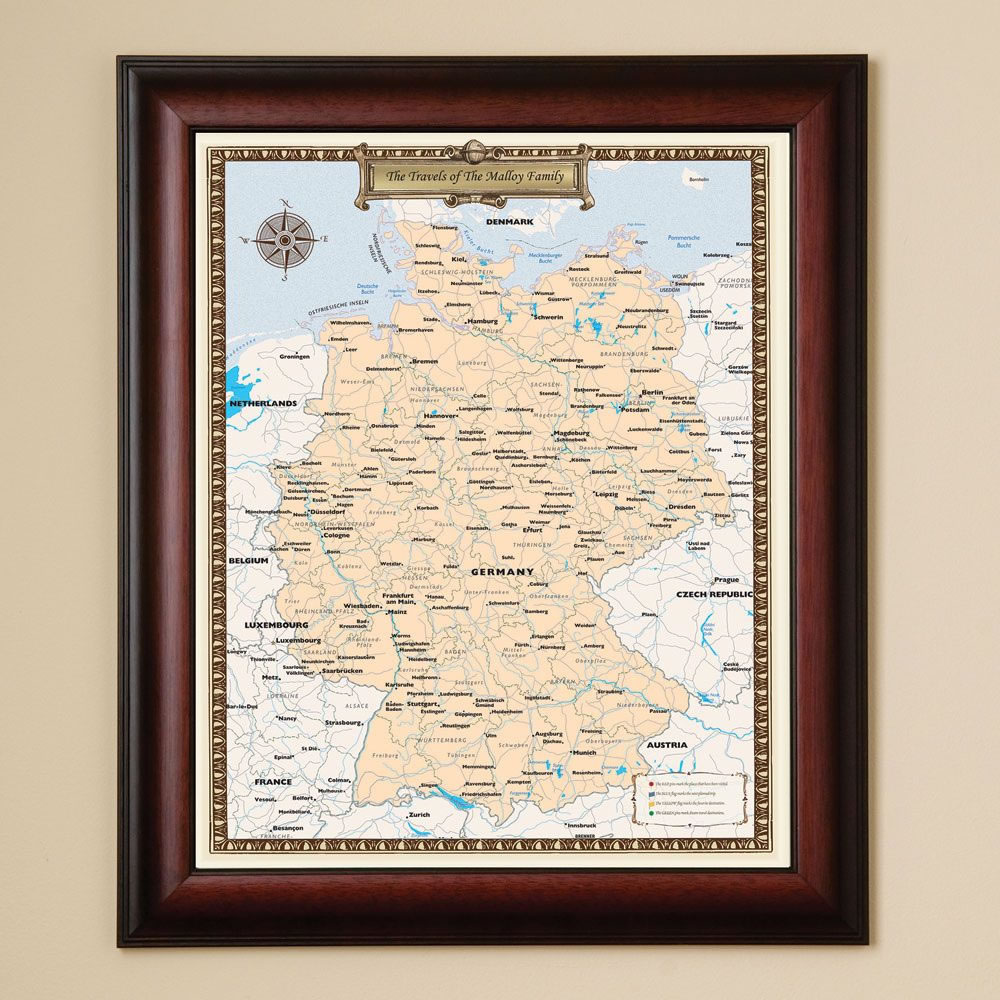The Personalized European Country Travels Map 4