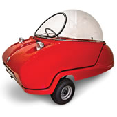 The Electric Peel Micro Car.