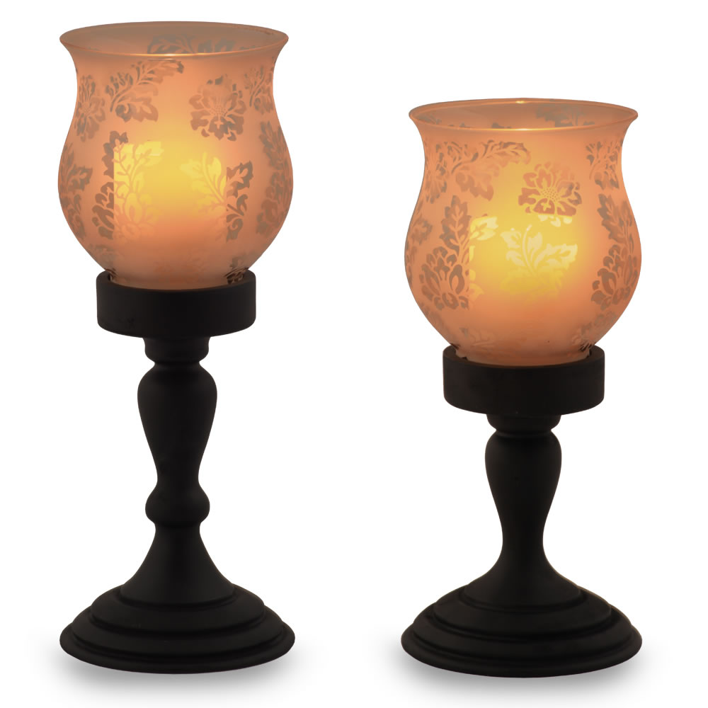 The Flameless Hurricane Pillar Candles 1