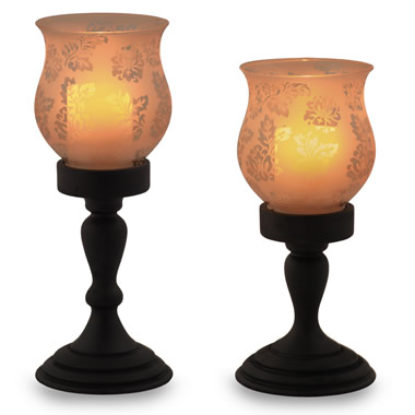 The Flameless Hurricane Pillar Candles.