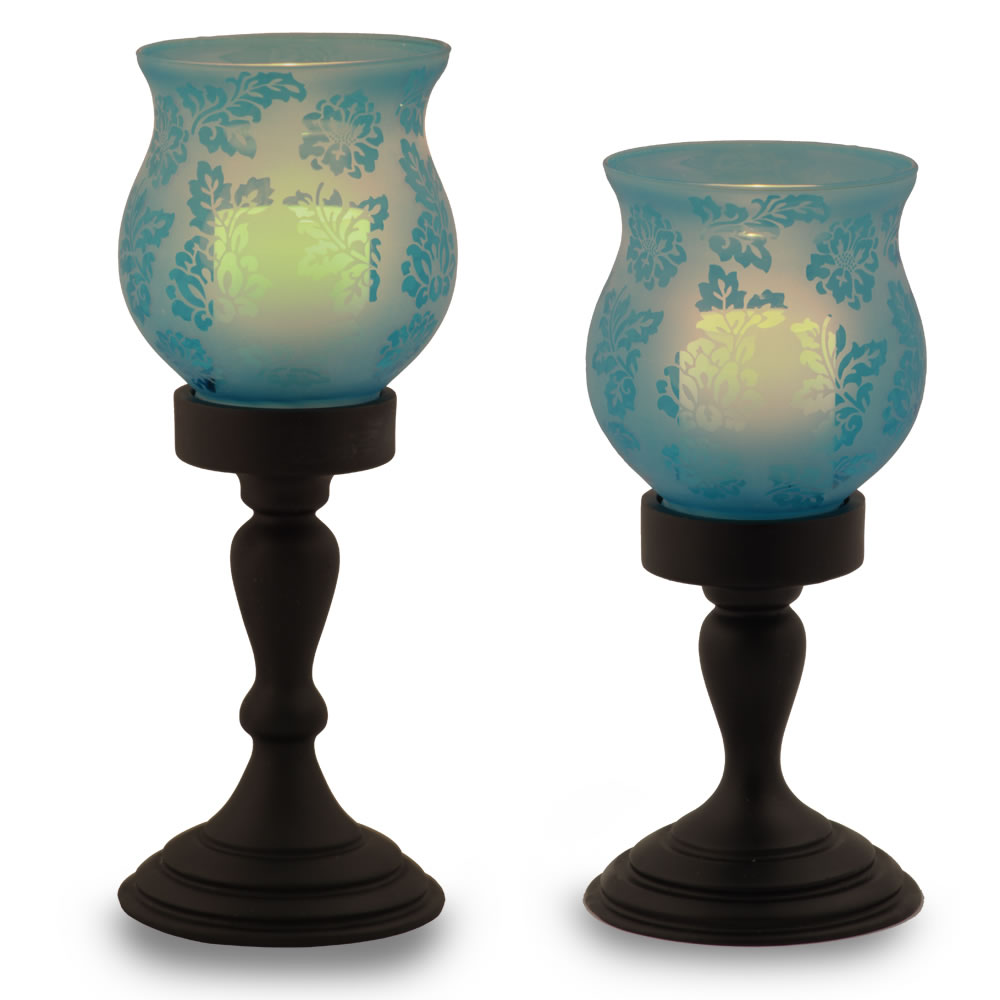 The Flameless Hurricane Pillar Candles 2