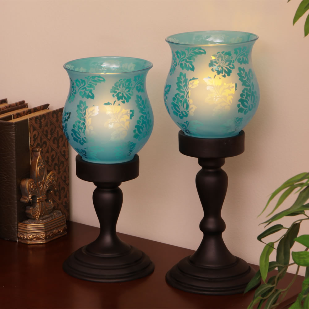 The Flameless Hurricane Pillar Candles 4