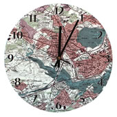 The Personalized Topographic Map Clock.