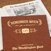 The Washington Post Remember When Personalized Book.