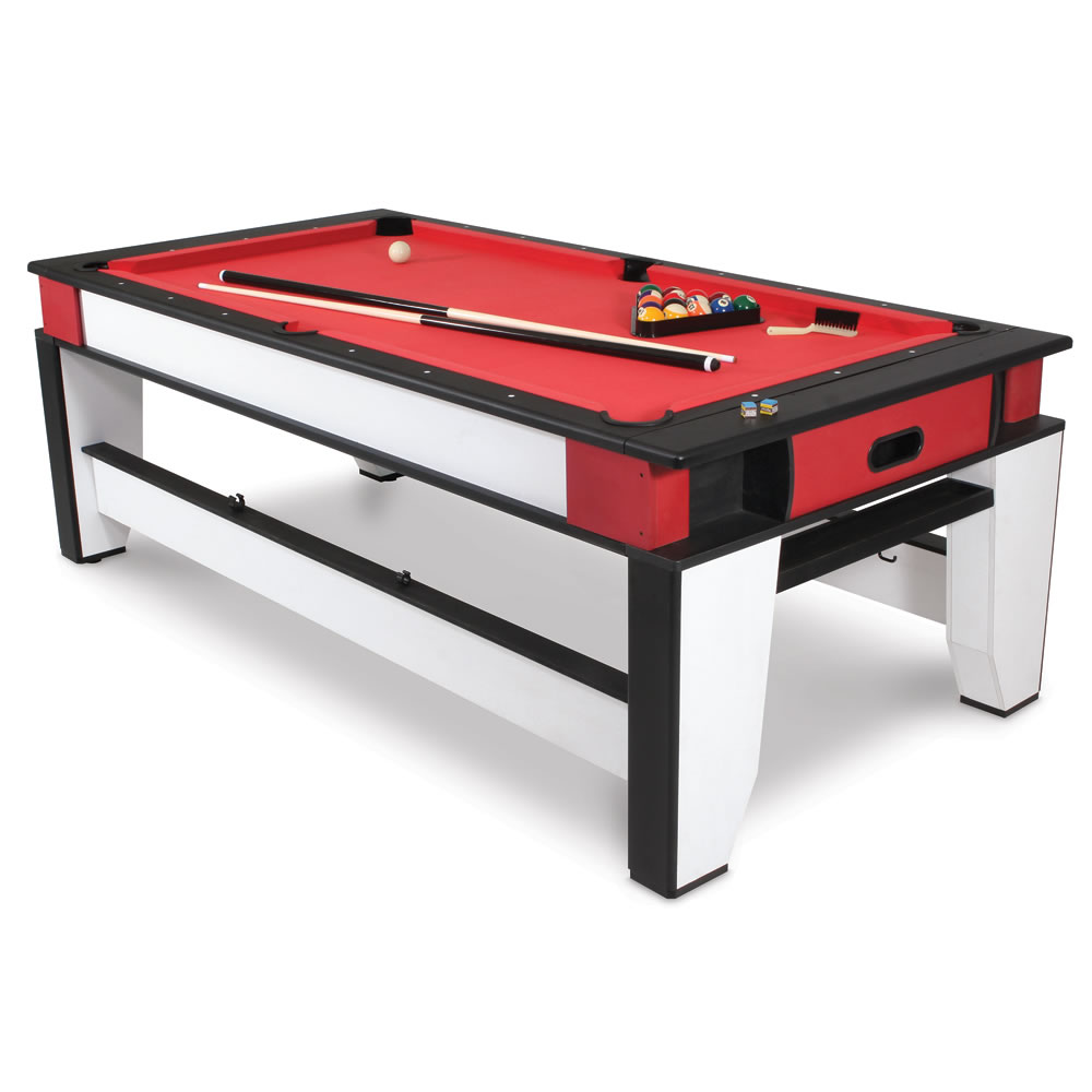 The rotating air hockey to billiards table hammacher for Table hockey