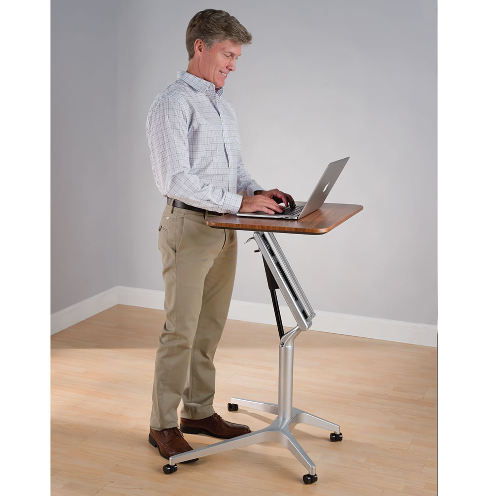 The Standing Or Sitting Workstation - Hammacher Schlemmer