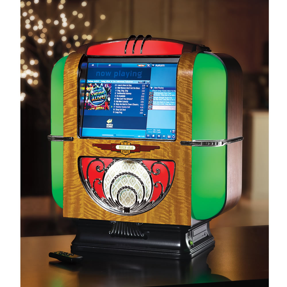 The Rock-Ola Countertop Jukebox - Hammacher Schlemmer