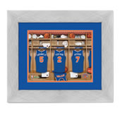 The NBA Fanatic's Personalized Locker Room Print.