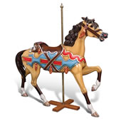 The Genuine 1902 E. Joy Morris Carousel Horse.