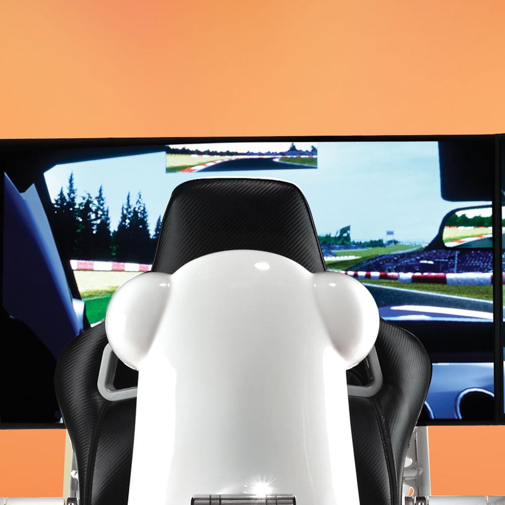 the most realistic racing simulator hammacher schlemmer. Black Bedroom Furniture Sets. Home Design Ideas
