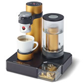 The World's Only Music Box Espresso Machine.