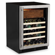 The Aficionado's Cigar Humidor And Wine Refrigerator.