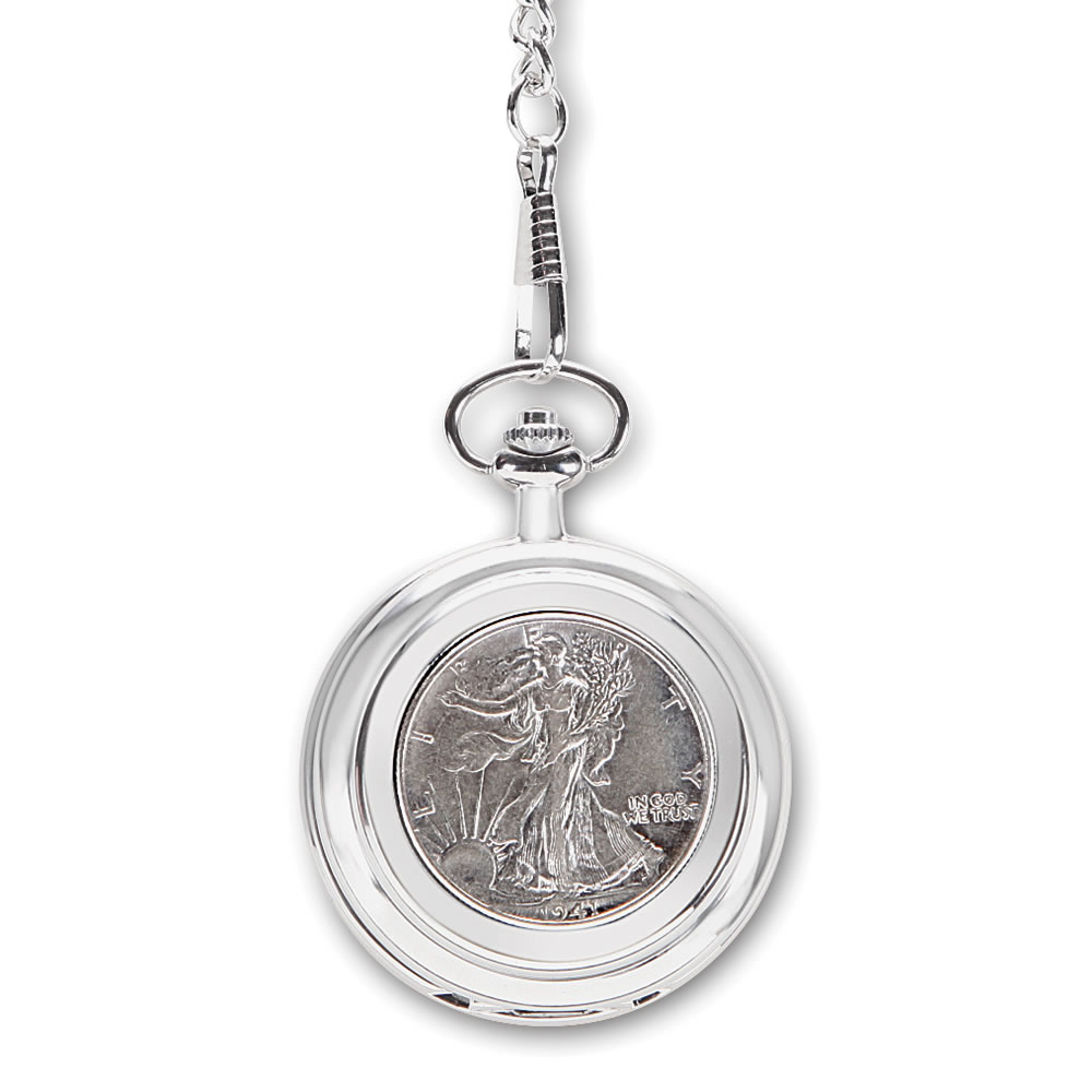 The Year Of Your Birth Half Dollar Pocket Watch1