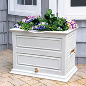 Rain Barrel Planter Gray