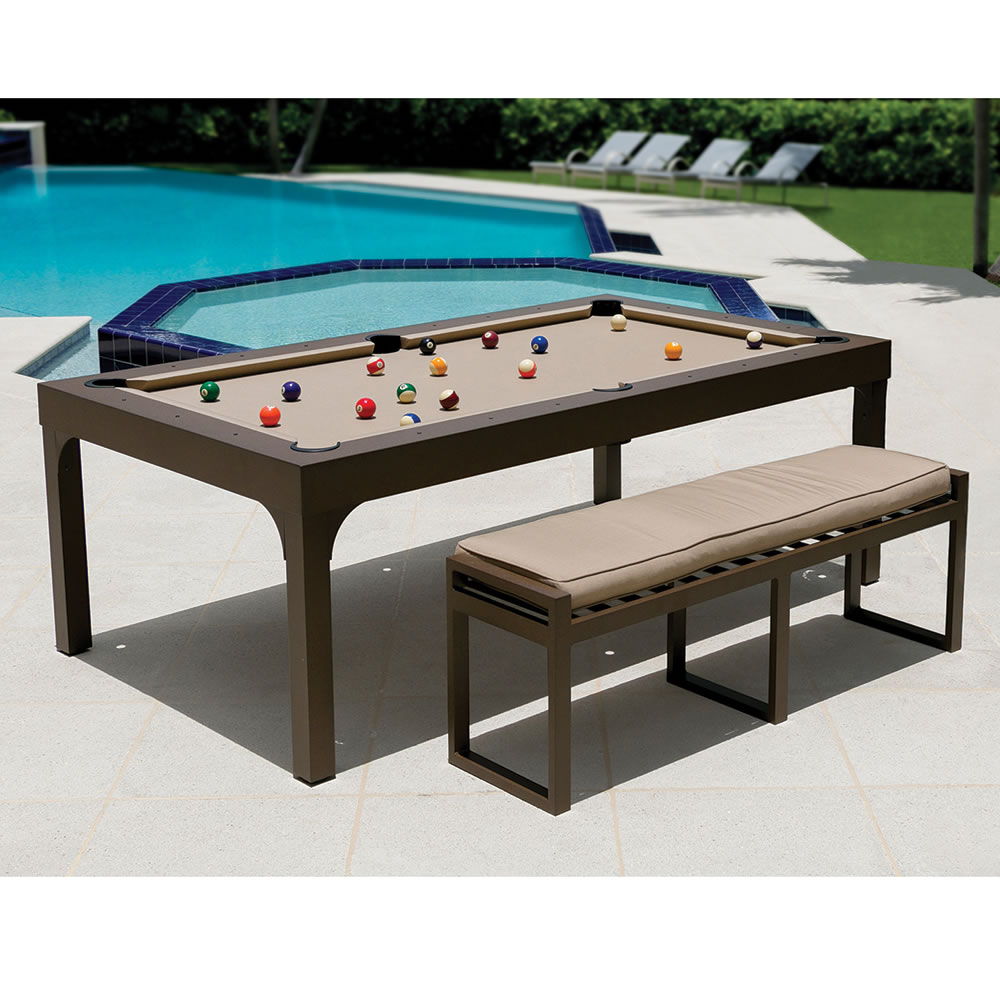 the outdoor billiards to dining table hammacher schlemmer. Black Bedroom Furniture Sets. Home Design Ideas