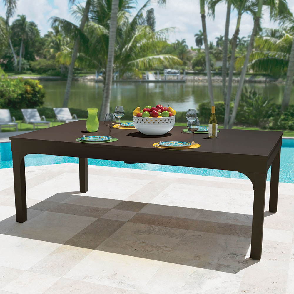 The Outdoor Billiards To Dining Table Hammacher Schlemmer