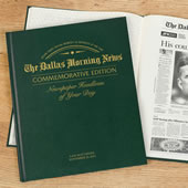 The Dallas Morning News Remember When Personalized Book.