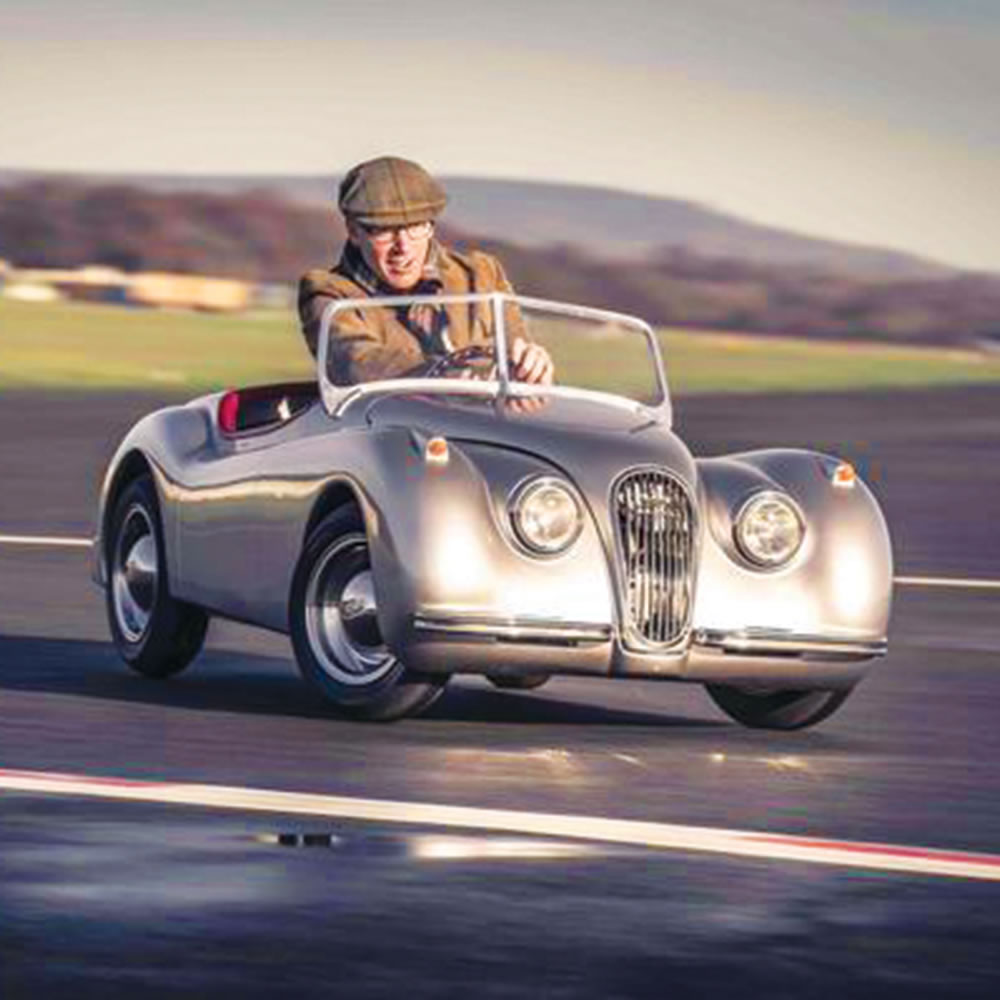 the adults jaguar xk120 mini roadster