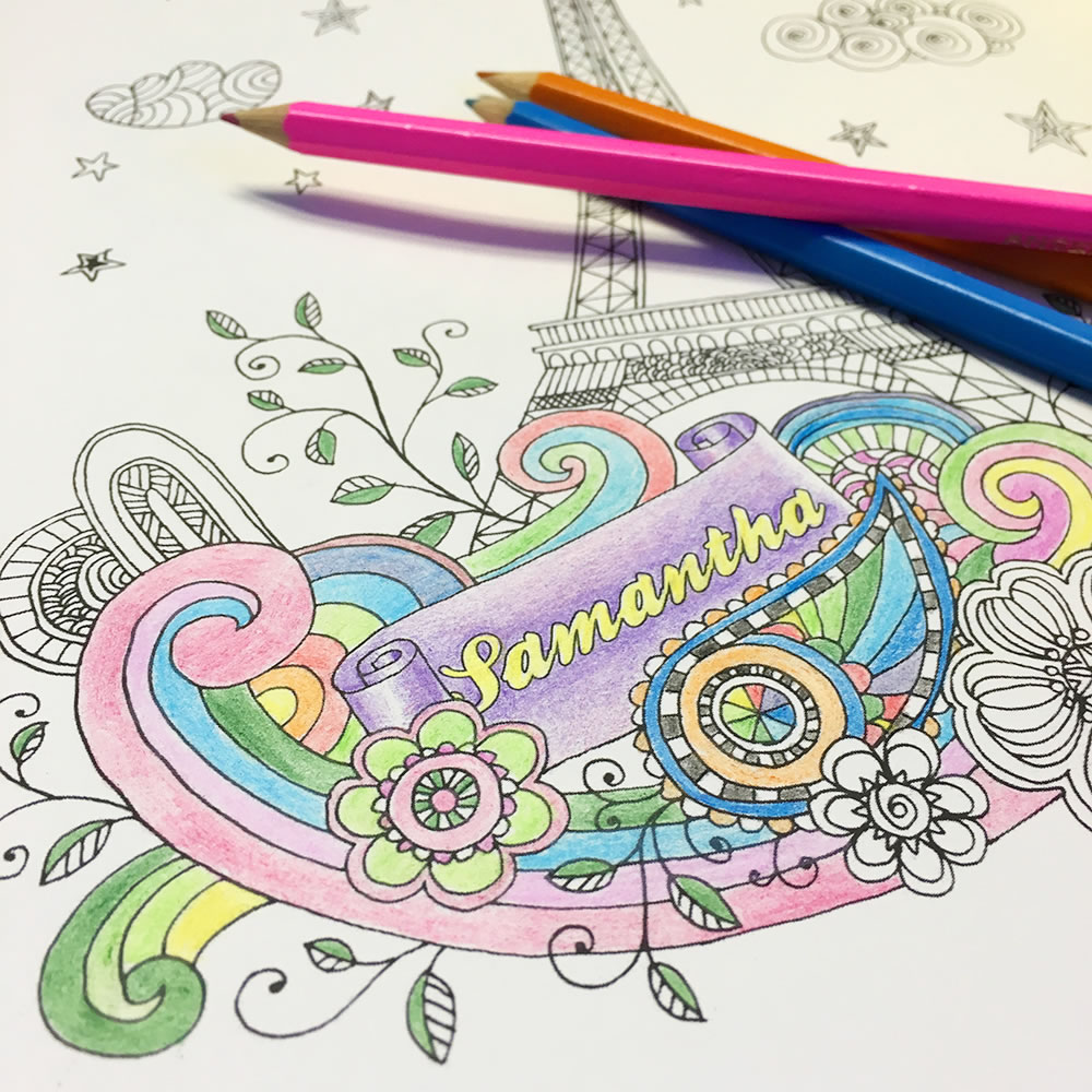 The Personalized Art Therapy Coloring Book 6
