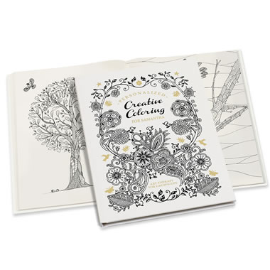 The Personalized Art Therapy Coloring Book.
