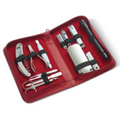 Ladies Personalized 9Pc Manicure Set Red