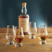 The Monogrammed Award Winning Glencairn Whiskey Glasses.