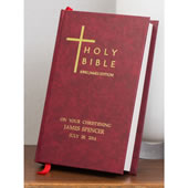 Personalized Family Bible Burgundy