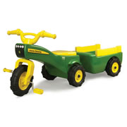 The John Deere Pedal Tractor And Trailer.