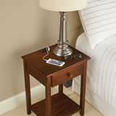 Charging Station Nightstand Espresso