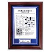 The Autographed NY Times Crossword Puzzle Of Your Birthday.