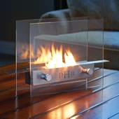 The�Monogrammed Tabletop Fireplace.
