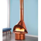 Ventless Mid Century Design Fireplace Co