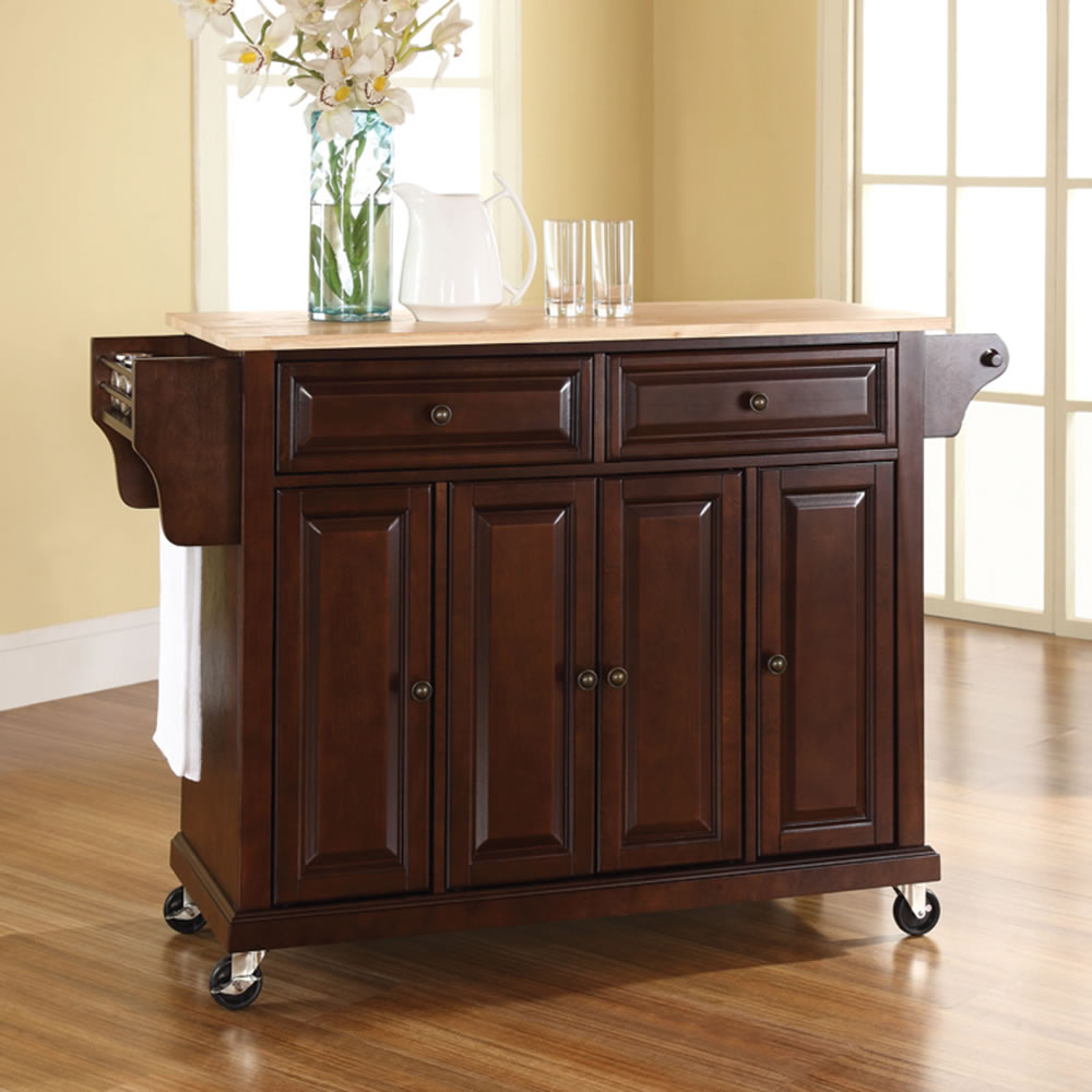 the rolling organized kitchen island hammacher schlemmer the rolling organized kitchen island