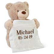 Personalized Peek-A-Boo Animated Bear.