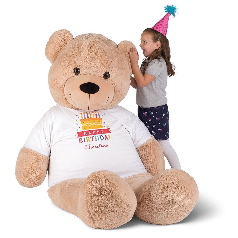 the personalized 6 u0027 teddy bear hammacher schlemmer