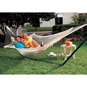 The Pawleys Island Oversized Rope Hammock.